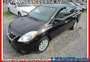 2014 NISSAN VERSA SV -AUTO A/C LOADED BLUETOOTH- no-accidents!