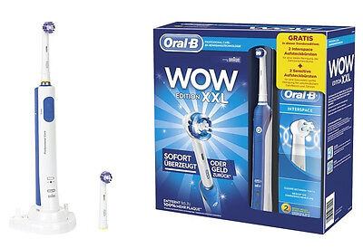 Braun Oral-B Professional Care 3000 WOW XXL Edition electric toothbrush