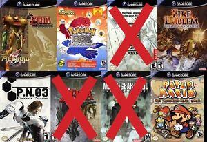 Cherche Wind Waker x Metroid, Paper Mario, Fire Emblem gamecube