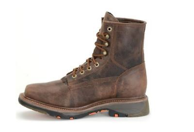 """Double H Men's 8"""" Brown Leather Composite Toe EH ICE Outsole Work Boot DH5128"""