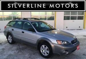 2005 SUBARU OUTBACK, 5SPD, AWD, HTD SEATS, NO ACCIDENTS, SAFETY!