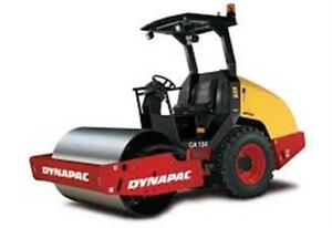 2013 Dynapac CA134D Smooth Drum Roller, only 300 hours