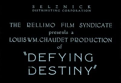 Silent Movie Defying Destiny 1923 Monte Blue Remastered Rare Vintage Film DVD