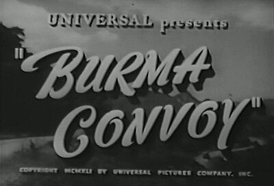 BURMA CONVOY (1941) DVD CHARLES BICKFORD, EVELYN ANKERS