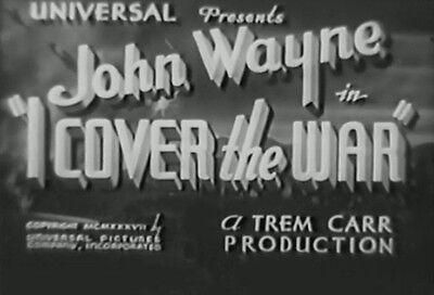 I COVER THE WAR (1937) DVD JOHN WAYNE, GWEN GAZE, used for sale  Las Vegas