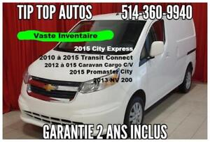 2015 CITY EXPRESS (NV200) AVEC GARANTIE GMC, BLUETOOTH AIR