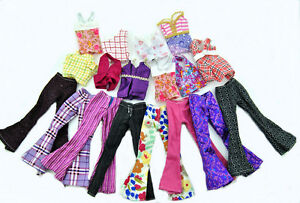 5-Sets-Handmade-Blouse-Outfit-Casual-Wear-Clothes-Trousers-For-Barbie-Doll-Spr