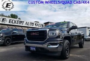 2016 GMC Sierra 1500 QUAD CAB 4X4 WITH FAST HD CUSTOM WHEELS