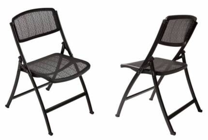 Mity-Lite MESH ONE Folding Chair - Black RRP $120, now $60 each! Beaumont Hills The Hills District Preview