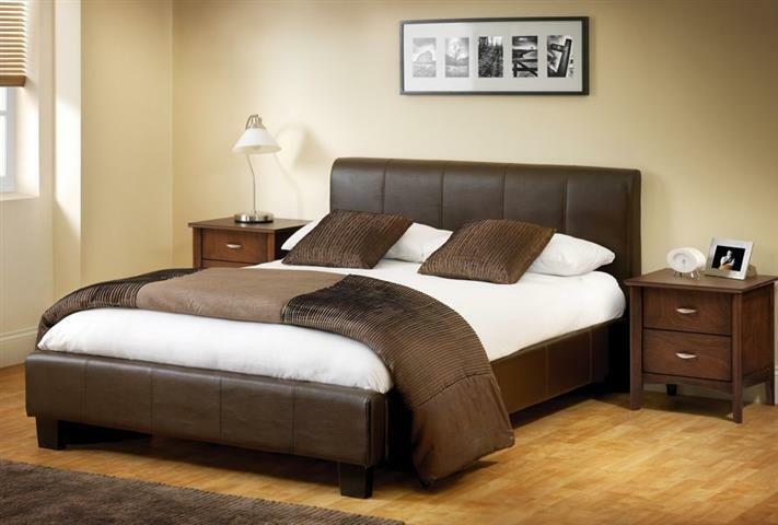 14 Day Money Back Guarantee Double Leather Bed With
