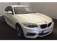 White BMW 220 coupe 2.0TD 2015 d M Sport FROM £72 PER WEEK!