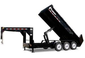 TRAILTECH 7'X16' GOOSE NECK DUMP TRAILER