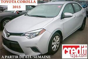 2015 Toyota Corolla CE, À PARTIR DE 49$/SEMAINE 100% APPROUVÉ !!