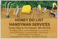 HONEY DO LIST HANDYMAN SERVICES