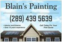 Blain's Painting!! 10% off all jobs booked in June. Free Quotes!