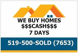 I Buy Houses! **Quick, Easy, Cash Offer** Cambridge Kitchener Area image 1