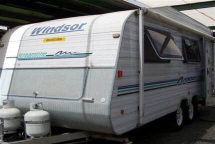 #0273 Windsor 19' caravan Heron wall A/C R/out awning Walls, Cowra Cowra Area Preview
