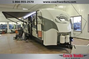 2017 Vibe Deluxe 272BHS Bunk Model Outside Kitchen