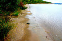 1.4 ac sand & rocks beach in 18,000ac park North Channel L Huron