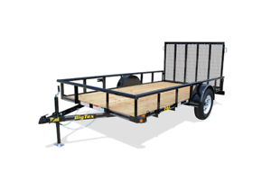 CLEARANCE BIG TEX 10' SINGLE RAIL UTILITY TRAILER