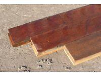 Reclaimed Solid Brazilian Mahogany Strip Flooring