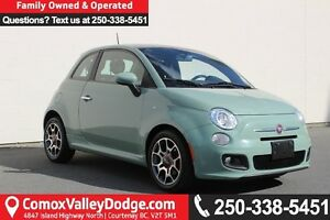 2013 Fiat 500 Sport GREAT FUEL ECONOMY, LEATHER, SUNROOF, KEY...