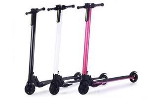 Black Aluminum Folding Electric Scooter $399 Sale