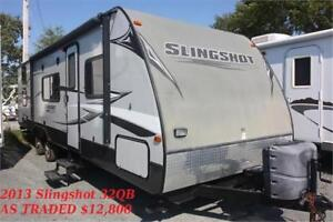 AS TRADED TENT TRAILER AND TRAVEL TRAILERS!