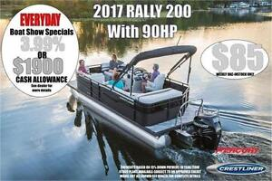 Crestiner 20FT Pontoon Boat with 50HP or 90HP Mercury Outboard