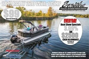 2017 Crestliner Rally 220 with 115HP Mercury Outboard