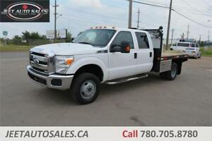 2012 Ford Super Duty F-350 DRW XLT 9 ft. Flat bed 4X4 Crew Cab