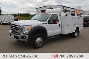 2012 FORD SUPER DUTY F550 11ft Service Truck Air Comp Welder Gas