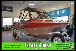 2018 HEWES CRAFT 190 SEA RUNNER ET (RED) WITH A 150 YAMAHA