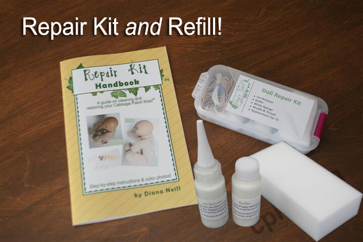 Repair Kit AND Refill for your Cabbage Patch Kids Doll - Ink Removal - Buffer