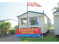 cheap starter static caravan for sale on luxury 5* flagship resort in skegness, east coast lincoln