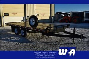 8.5X16' Canada Trailers Highboy Flatdeck Trailer