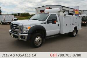 2012 FORD SUPER DUTY F550 11ft Service Truck Air Comp Welder Gas