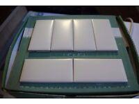 Off white tiles.