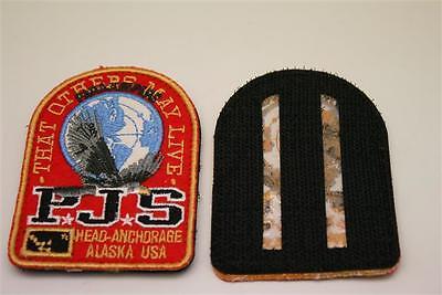 Rot Parajumpers PJS Patch Aufnäher Mantel Jacke Long Klett Logo Emblem Long Bear