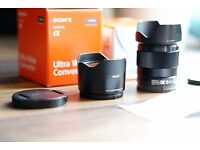 Sony 28mm f2 and 21mm Ultra-wide Converter for A7 cameras
