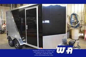 2017 ALL ALUMINUM 7X12 Enclosed Motorcycle Trailer