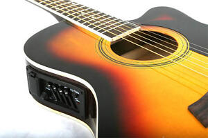 NEW-ADULT-Crescent-SUNBURS-Acoustic-Electric-Guitar-Acc