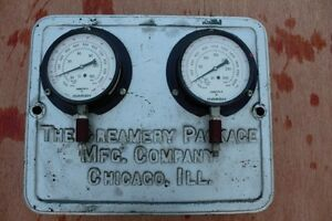 """Cast iron Refrigeration Gauges """"The Creamery Package MFG. Compan"""