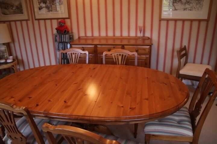 Jaycee Dining Suite Including Table6 Chairsside Board And Glassfronted Dresser Image 1 Of 6