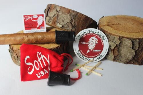SOFTY CIGAR HOLDER MOUTHPIECE TIP  (54-64 RING SIZE) ORIGINAL USA MADE