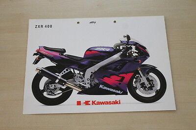 193653 Kawasaki Zxr 400 Prospekt 199? Automobilia Anleitungen & Handbücher