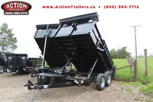 "2019 83"" x 12' DUMP TRAILER - 12,000LB GVWR, READY TO ROLL!"
