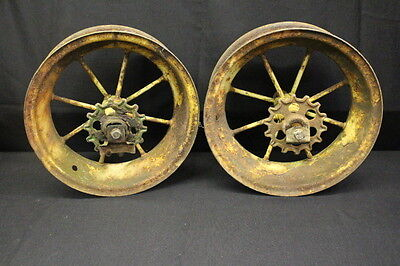 Pair Of Antique John Deere Spoke Wagon Rims Jb 2688b