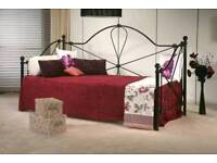 Black single day bed