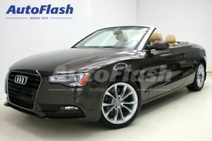 2014 Audi A5 Technik Convertible 2.0L Quattro *GPS/Camera*
